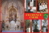 Postcard from her native village of Čechynce
