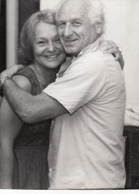 S Arnoštem Lustigem v 90. letech