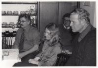 S Ludvíkem Vaculíkem a Milanem Šimečkou v roce 1983