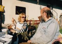 S básníkem Andrejem Stankovičem na chalupě