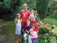 Eda Kriseová s vnoučaty