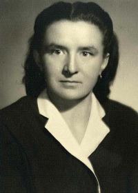 Božena Kopcová portrét, po roce 1945