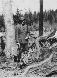 dokumenty o partyzánské aktivitě manžela Josefa Kopce
