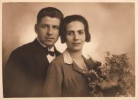 Parents Jindřich and Marie Vavřínovi, 1929, Brno