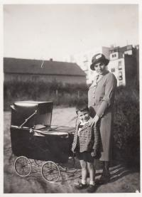 1933, Petr and his mother, his brother in the pram