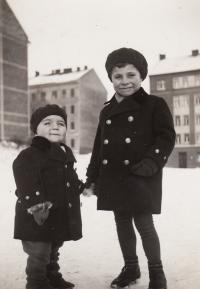 1934, Petr with his brother