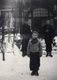 1937, Karlova Studánka, Christmas, Petr
