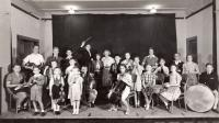 1938, childrens orchestra, Petr 2nd from left with violin