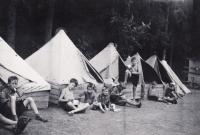 1938, camp, Petr 3th from left