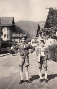 1944, Petr with brother