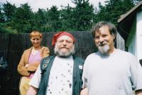 Josef Kovalčuk s Arnoštem Goldflamem na chalupě