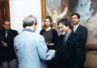 Při předávání jmenovacího dekretu uměleckého šéfa činohry Národního divadla