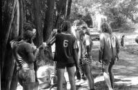 Z fotbalové turnaje mániček v Obědné z roku 1983