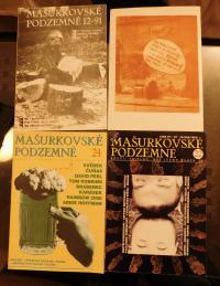 Fotografie Antonína Mikšíka na obalech časopisu Mašurkovské podzemné