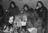 V hospodě Čtverka v Uničově v roce 1985