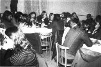 V hospodě Čtverka v Uničově v roce 1986