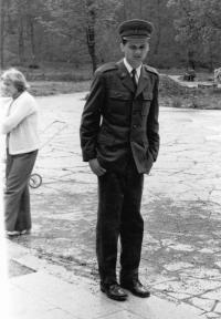 Antonín Mikšík na vojně v roce 1981