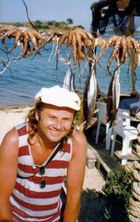 Antonín Mikšík v Řecku v roce 1995