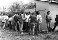 Z fotbalového turnaje v Uničově v roce 1984