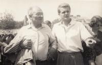 Jaroslav Mojžíš s přítelem Vladislavem Novákem, rok 1961