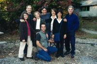 Olička with her seven children, Quebec 2002