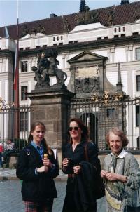 Olička with Kathleen, Prague 1997