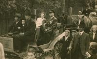 Festive welcome of the native freedom fighter at Kuroslepy, 16th September 1945