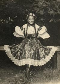 Vlastenka in the Czech national costume, 1937