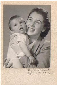 Vlastenka with Slávek, her son, England 1944