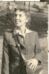 Vlasta Rejtharová,a  tram conductor, end of the 1950s