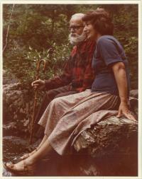 Olga and Miloš Novak, at their cottage at Laurentides, Canada, 1977