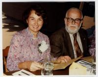 Olga and Miloš Novák, a party for Olga leaving St Bernard School to be retired, 23/3/1982