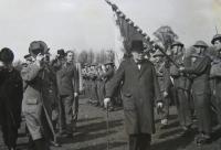 Winston Churchill visiting the Czechoslovak Brigade, England 1940