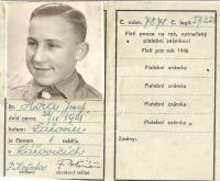 Josef Hora - skautská legitimace