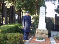 U hrobu generála Františka Zacha v Brně