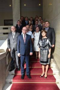 Návštěva premiéra a delegace ČR