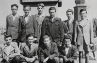 Milan Kroupa (left, bottom) with classmates from ČAO