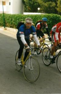 Josef Horčic během triatlonového závodu