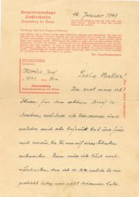 Dopis z Oranienburgu od otce
