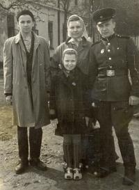 The families russian friend Vladimir with him family