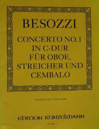 Partitura Carlo Besozzi - koncert č. 1 pro hoboj, housle a cemballo