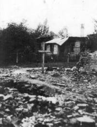 Spáleniště u domu Josefa Dobrého