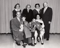 lower row Jan, Martin, Tomas and Eva Roček, the second from the left upper Anna Trojanová, 1960 USA