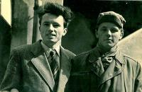 Jaroslav Bílek on the left, 1956