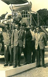 Jaroslav Bílek as the second from the left, 1961 in Brno