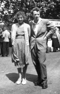 Jaroslav Bílek with wife