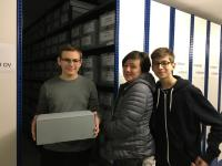 Students in the archive