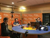 Students in the radio