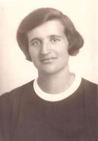 Matka Marie Baranová, portrét, Praha 1938