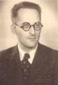 Otec Kurt Baran, portrét, Praha 1938